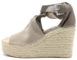 MARC FISHER Allison Perforated Espadrille Platform Women's S