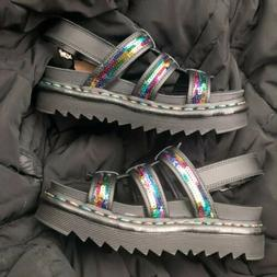 Dr.Martens Rainbow Yelena Sequin Leather Casual Platform Wom