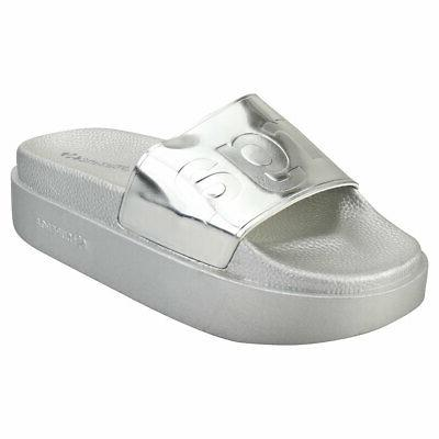 1919 womens grey silver synthetic platform sandals