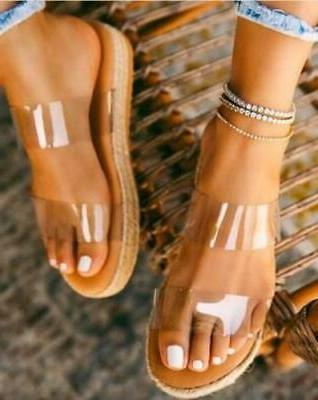 clear platform sandals free shipping