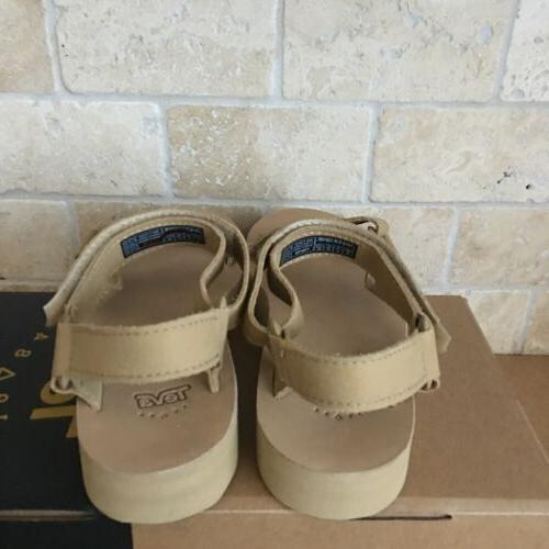 TEVA UNIVERSAL LEATHER DESERT SAND STRAPPY SANDALS SIZE