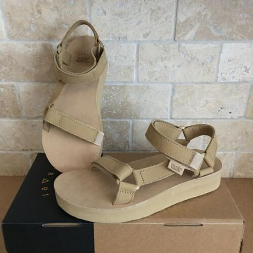 midform original universal leather desert sand strappy