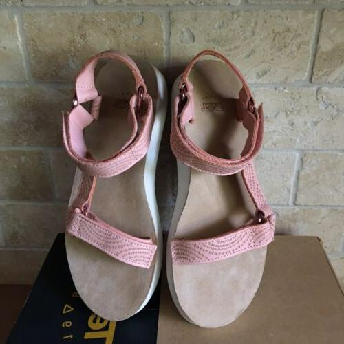 TEVA LEATHER PEACH SANDALS SIZE