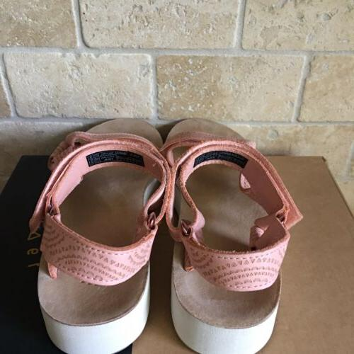 TEVA MIDFORM UNIVERSAL LEATHER TROPICAL PEACH SIZE 8