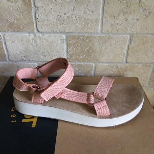 TEVA LEATHER PEACH SIZE