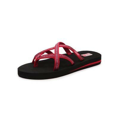 olowahu womens pintado red sandals