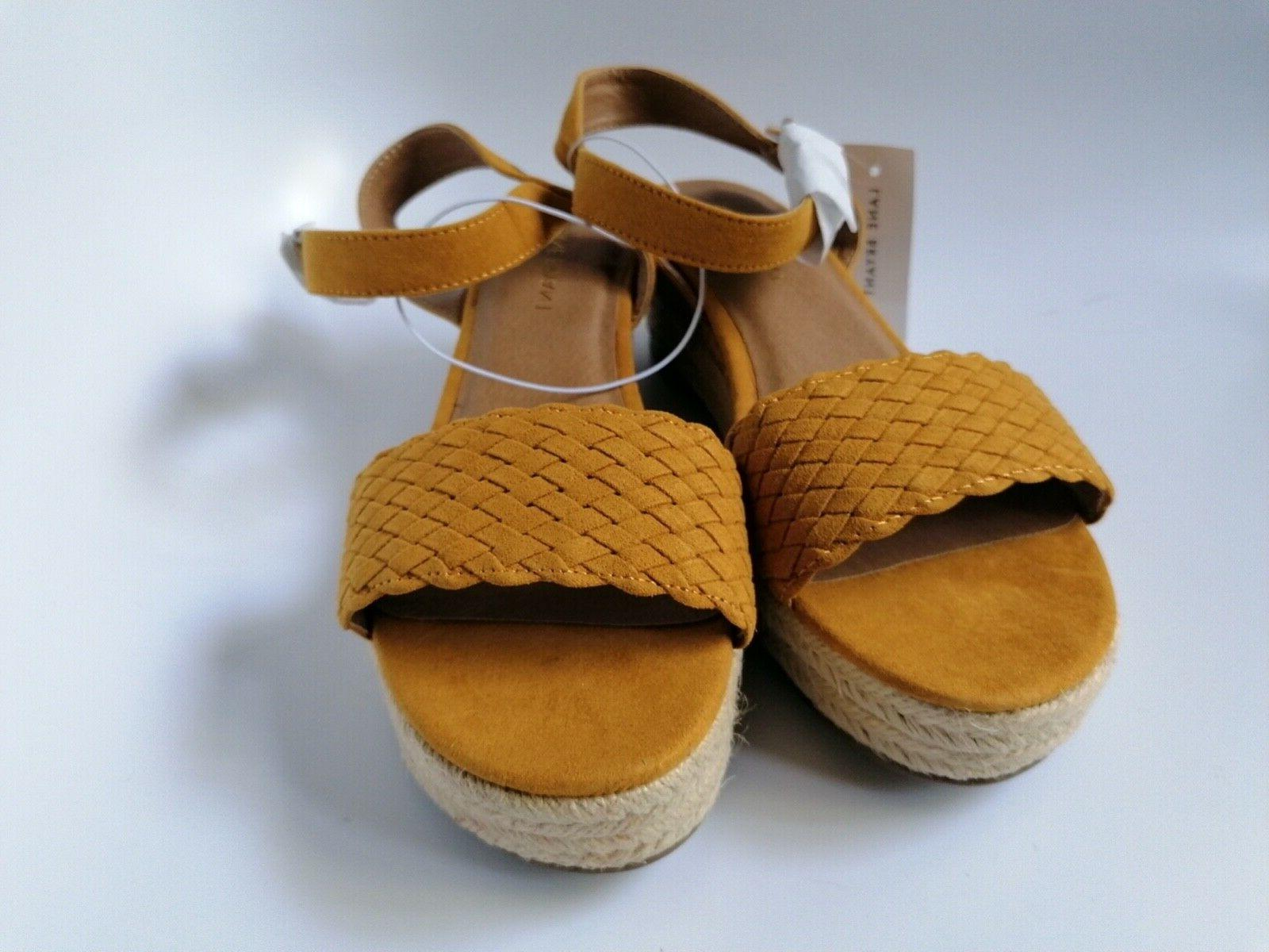 Lane Bryant Sandals, Yellow, Women's Size New with Tags