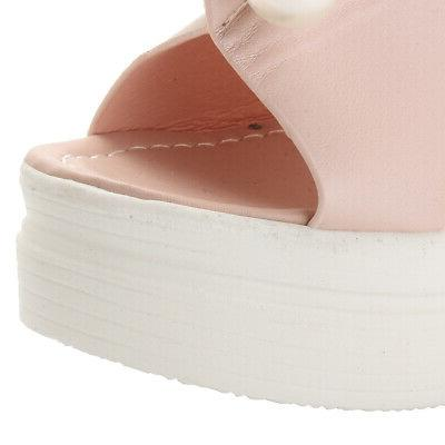 US Toe Wedge Sandals Casual Slip Shoes