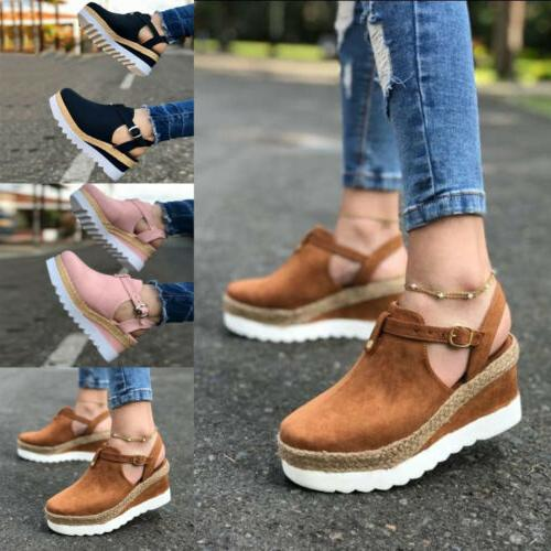 Women Casual Espadrille Ankle Size
