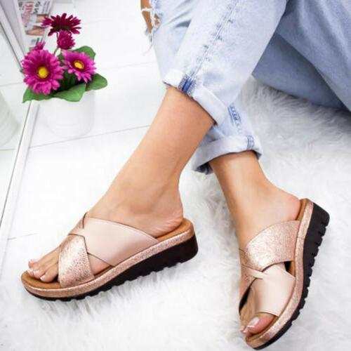 Women Sandals Ladies Slippers Shoes Bunion Corrector Arch Support