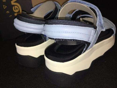 Teva Blue White black Platform Women's