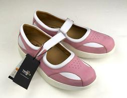 COGENT Leather MARY JANES White & Pink Loafers Sandals Shoes
