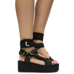 Mia Pazzle Neoprene Fashion Strappy Comfortable Platform Wed