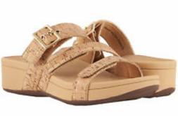 NWT VIONIC RIO Size 11 Cork Slide Sandals Orthaheel 3 adjust
