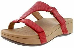 Vionic Pacific Ellie - Women's Platform Slide Sandal Red - 1