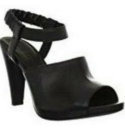 See By Chloé Women's Leather Platform Heeled Sandals # 7.5