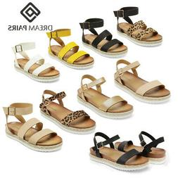 DREAM PAIRS Women's Platform Wedge Sandals Ladies Ankle Stra