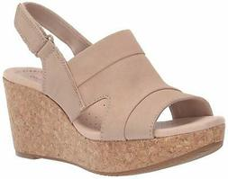 Clarks Womens Annadel Ivory Open Toe Casual Platform, Sand N