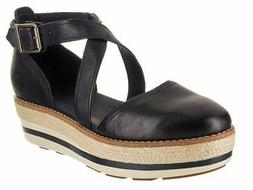 Timberland Womens Emerson Leather Round Toe Casual Platform,