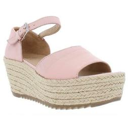 womens opal pink leather platforms shoes 5