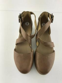 Womens Timberland Tan Leather Emerson Point Platform Sandal