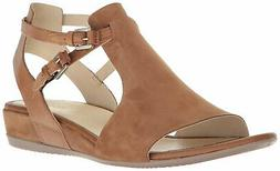 ECCO Womens Touch 25 Open Toe Casual Platform Sandals, Camel